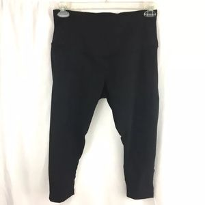 Zella athletic capri stretch pants sheer leg